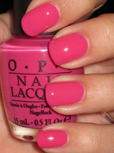 "One of my favorite OPI nail polishes called ""Feelin' Hot Hot Hot"".  I've gone through several of them already.  Hope they never discontinue it!  It's just the perfect shade of pink."