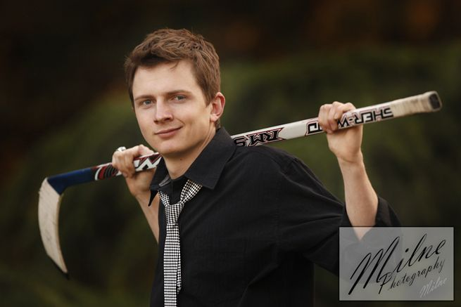 senior pictures ideas for HOCKEY PLAYERS | High School Senior Hockey Player portrait taken at Woodward Park by ...