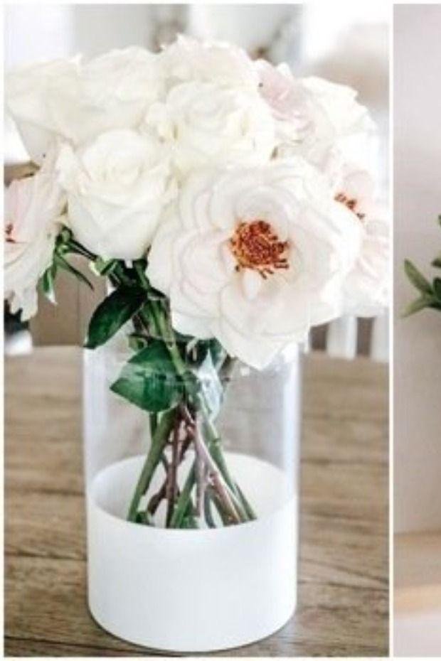 بالصور أفكار يدوية لتزيين الفازات والتجديد من ديكور المنزل Table Decorations Decor Glass Vase