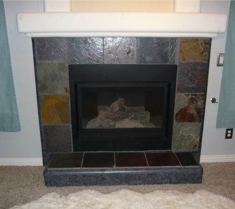 how to clean black slate fireplace surround
