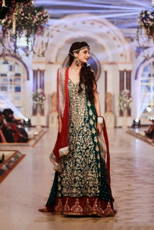 Latest Fashion Trends: Pakistani Bridal Couture Wedding Wear Collection 2014-2015