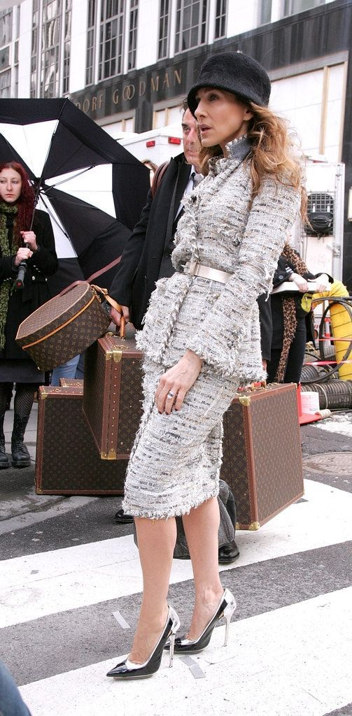 Carrie Bradshaw made her Louis Vuitton trunk look iconic.