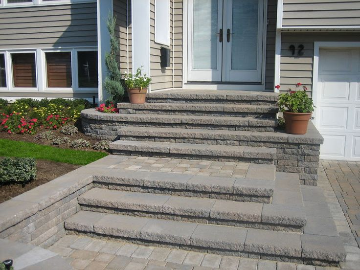 Paver Driveway Cambridge Tumbled Matryx Wall