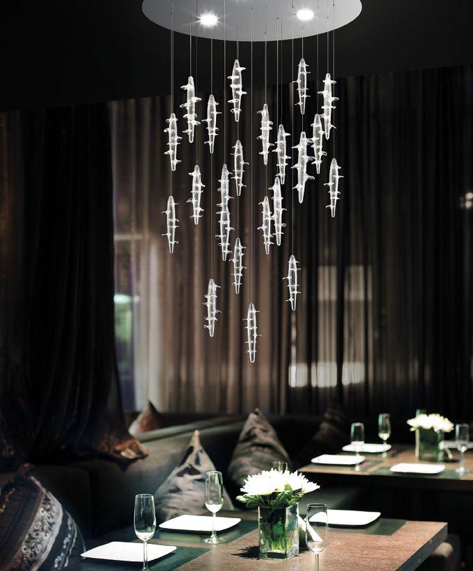 Micos lightdrops. #MuranoGlass #MuranoChandelier #DesignChandelier #deMajoIlluminazione