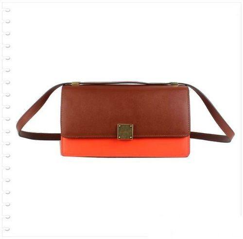 Celine Case Bag Calfskin Leather 17081 3338 Brown&Orange