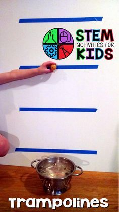 STEM Activities for Kids - Trampoline STEM Challenge! How high or low can you make a ball bounce?