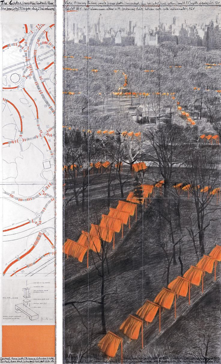 The Gates (Project for Central Park, New York City)  Jean Claude and Christo - My Favourite Works.