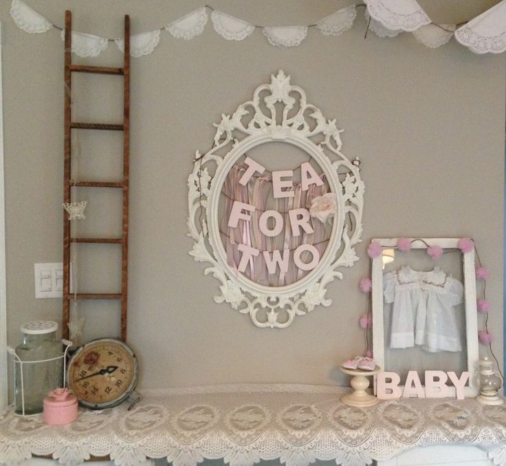 Tea for Two. A vintage tea party inspired baby shower