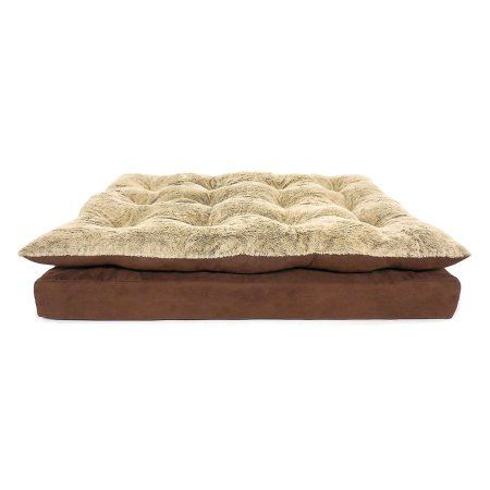 "Canine Creations Orthopedic Pillow Topper Pet Bed, 40"" x 30"", Chocolate"
