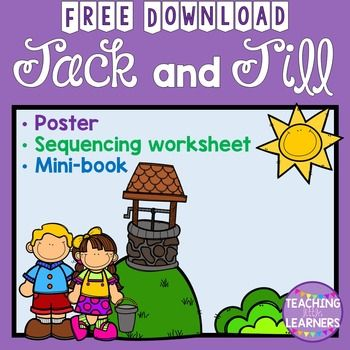 Jack and Jill | Free nursery rhymes, Rhyming activities ...