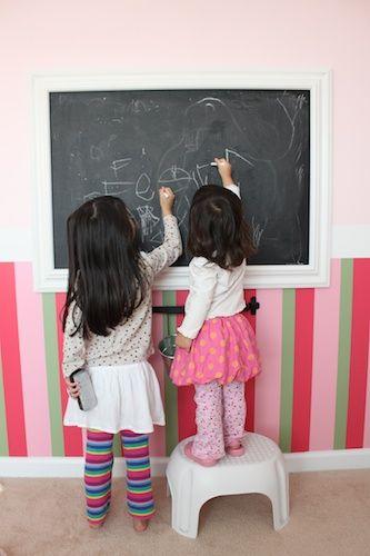 DIY Chalkboard for the girls' playroom