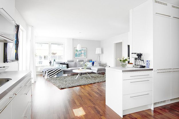 Jarrah flooring white interior design