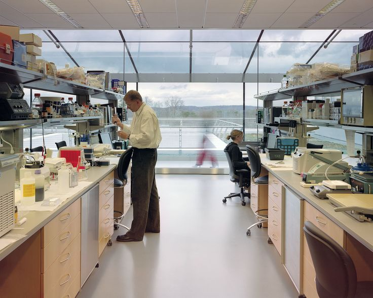 Howard Hughes Medical Institute – Janelia Farm Campus | Rafael Viñoly Architects | View of research lab. Photos: Jeff Goldberg / Esto