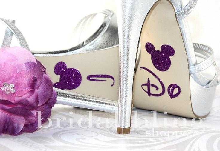 I Do Shoe Stickers For The Disney Bride