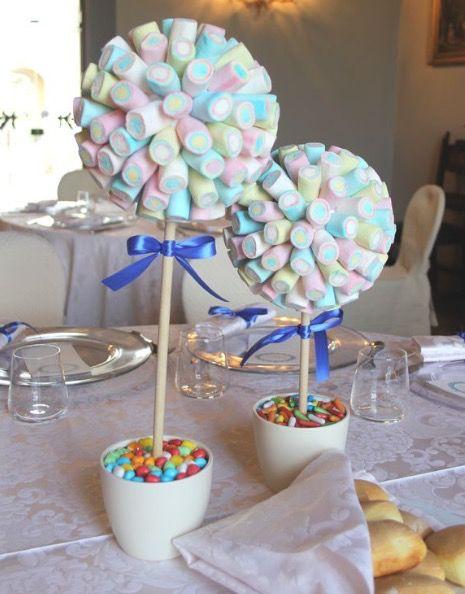Molto divertenti e facili da copiare questi alberelli realizzati con i marshmallow. Inserite in un vaso della spugna…