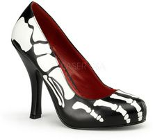 Skeleton print day of the dead costume pumps