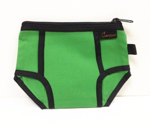 Sexy men's underwear styling debris collection bag cosmetic bag green in Makeup Bags & Cases | eBay