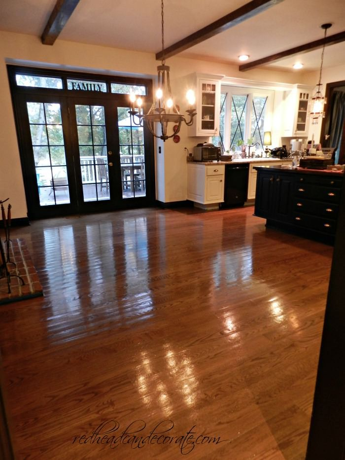No Sanding Floor Refinishing…this is our kitchen.  1 1/2 years later I'm so happy we did this.  The DIY part is the furniture moving.  That was the hardest part.  They did all the rest in 1 day.