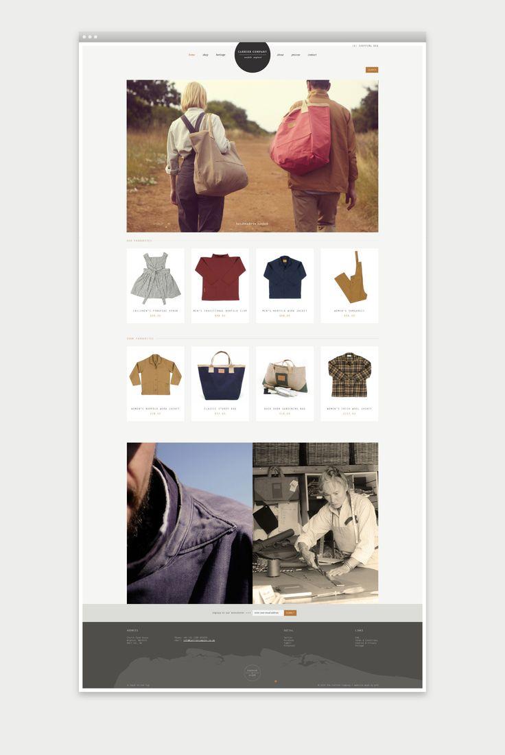 E-commerce website design for Carrier Company | PFD