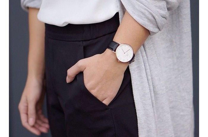 I've been looking for a watch like this except with a black face. If I don't find it, I'm definitely getting this one. So simple and classy. -A  Classic Sheffield Lady - Women