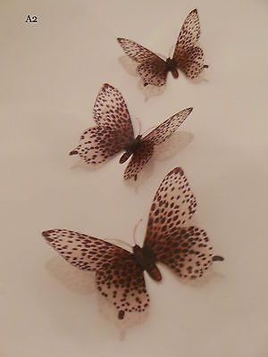 Exotic-3D-Cheetah-Print-Butterflies-Animal-Print-African-Wall-Art-Organza-Bag-A2