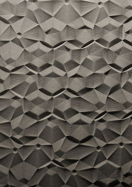 Surface pattern. Elijah Porter: Architectural Surface, Patterns, Texture, Curve Milling, Elijah Porter, Nested Hexagons, Linework Radiating, Design, Material