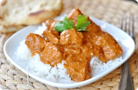 Indian Butter Chicken, really tasty! Made it with chicken thighs... and i prefer chicken breasts... but that was my fault. 4 stars