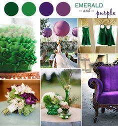 LOVE the Emerald & Purple!! So pretty! Wedding Color Ideas-Emerald Green Weddings and Invitations 2014 - InvitesWeddings.com