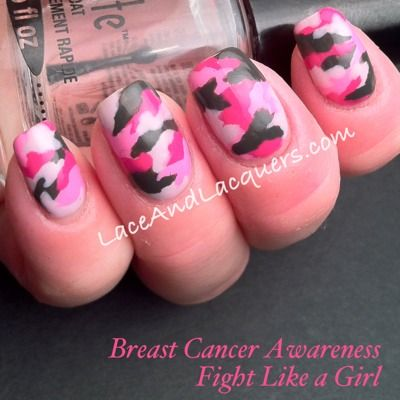 Lace and Lacquers: 10/10 Go Pink Wednesday: Fight Like a Girl