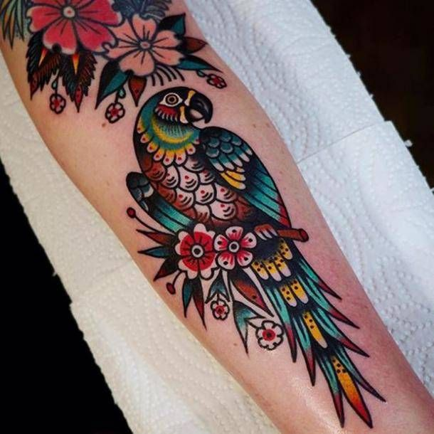 What Are Neo Traditional Tattoos? 45 Stunning Neo Traditional Tattoo Ideas For You To Get | Neo tattoo, Traditional tattoo design, Parrot tattoo