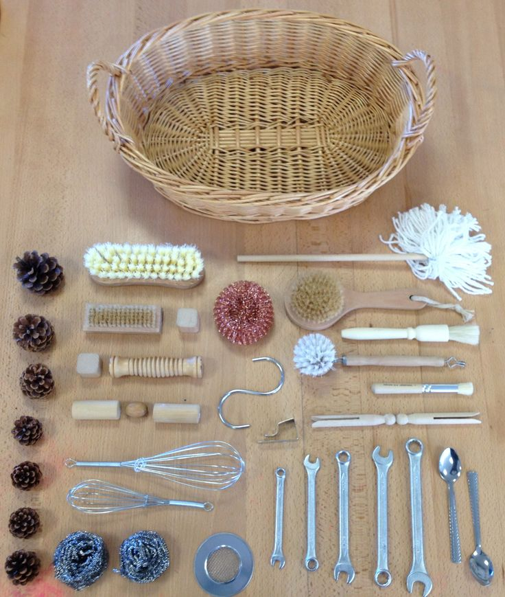 interesting items to add to basket - this was a gift basket idea, but it struck me as a great tactile experience.