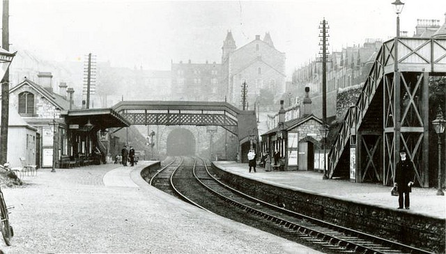 Mutley train station, Plymouth c.1910 by derektait, via Flickr
