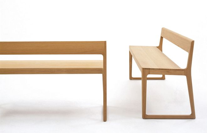 Edward Barber and Jay Osgerby Lightweight oak bench designed for St. Thomas' Cathedral in Portsmouth.