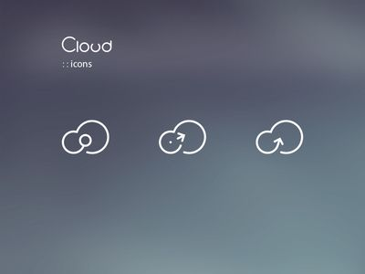 Dribbble - Cloud Icons by Axel Herrmann
