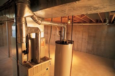 How to Enclose a Water Heater Thermostats, Basement