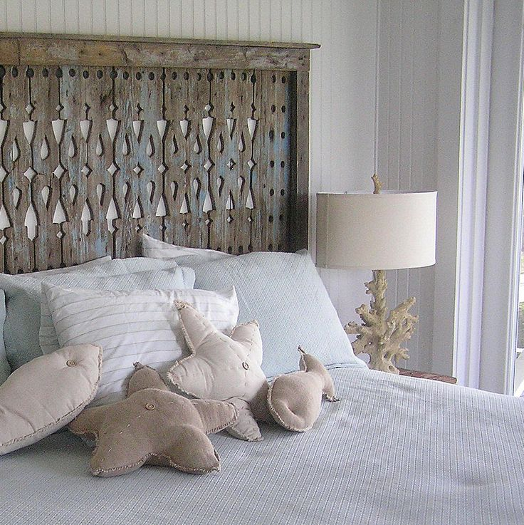 1000 ideas about beach headboard on pinterest modern bar carts headboards and headboard ideas - Hoofdbord wit hout ...