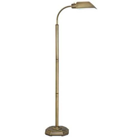 ott lite alexander brass energy saving gooseneck floor lamp lampsplus. Black Bedroom Furniture Sets. Home Design Ideas