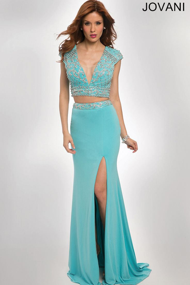 23 best Two Piece Blue images on Pinterest | Formal evening dresses ...