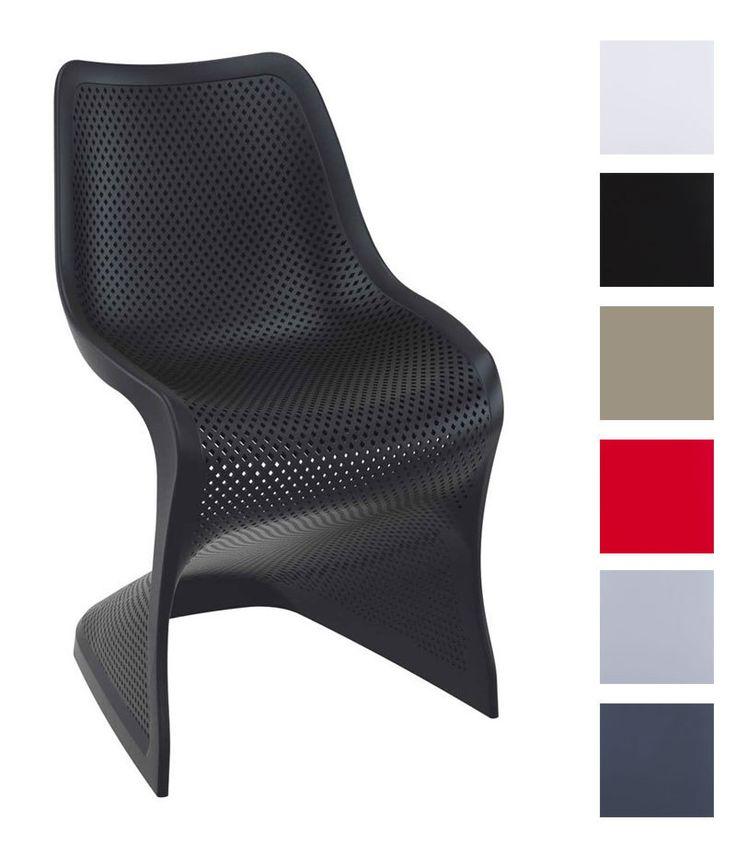 Outdoor Stuhl BLOOM XXL Aus Kunststoff | Pflegeleichter Freischwinger Für  Den Garten | In
