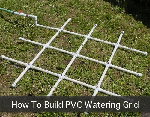 Homemade Square Gardening PVC Watering System Now Thatu0027s A Neat Idea! Your  Grid And Irrigation All In One.