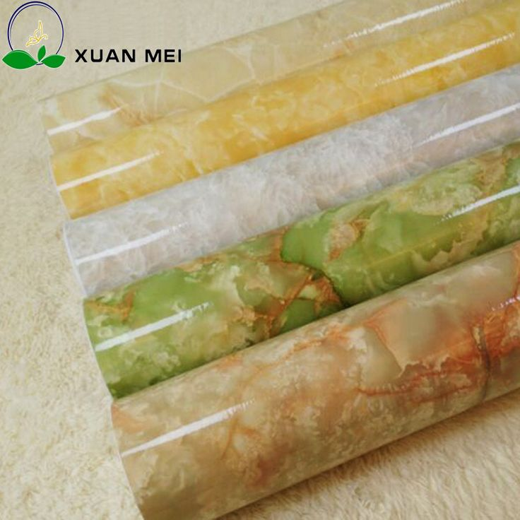 Imitation Marble Waterproof  Wallpapers for Bathroom,PVC Self Adhesive Wall paper Vinyl Wallpaper for furniture,0.6m*1m