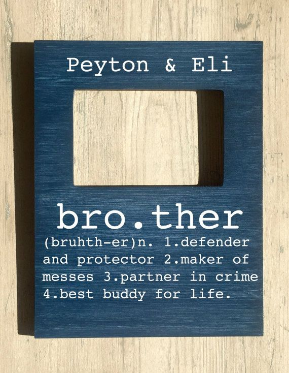 Brother Picture Frame, Brother Buddy for Life, Big Brother Little Brother, Gifts for Brother, Brother Gift, Brother Birthday Gift Easel backed Wall Mountable Real glass insert to protect your photo. CUSTOMIZE at no cost! Just convo me with your customization when you place your order. *Every frame is hand painted, thats what gives it its character! I do not use any vinyl or printed paper that can peel over time, this ensures your frame will remain a treasured keepsake for years to come…