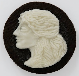 An Oreo cookie cameo...not well-drawn, but brilliant, anyway.