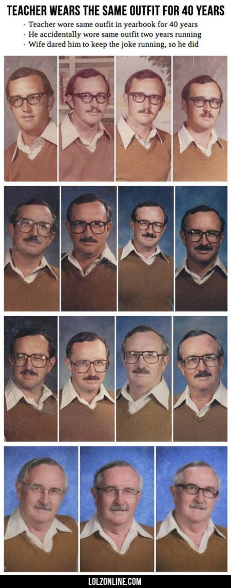 Teacher Wears The Same Outfit For 40 Years#funny #lol #lolzonline