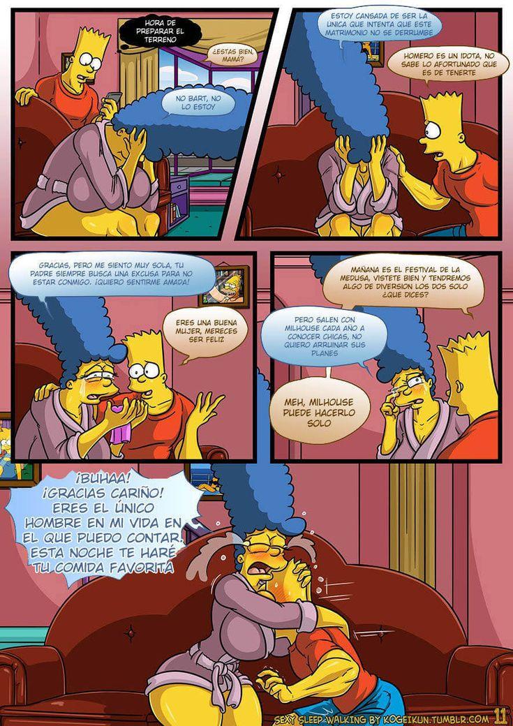 En el comic de los simpson porno de sexy sleep walking la madre de Bart está muy preocupada por que Homer no tiene muchas ganas de tener sexo y ella quiere.