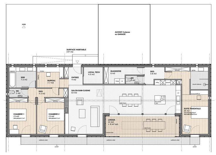 Maison d 39 architecte plain pied recherche google maison for Google plan maison