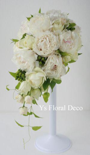 芍薬のキャスケードブーケ  ys floral deco