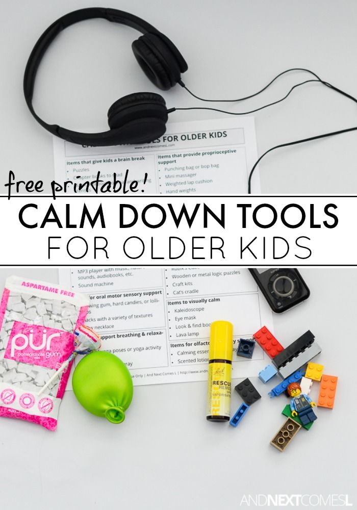 Calm down tools and toys for older kids from And Next Comes L