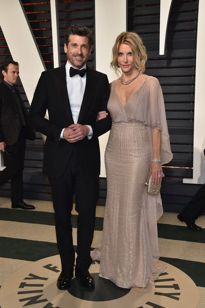 Actors Patrick Dempsey (L) and Jillian Dempsey attend the 2017 Vanity Fair Oscar Party hosted by Graydon Carter at Wallis Annenberg Center for the Performing Arts on February 26, 2017 in Beverly Hills, California.