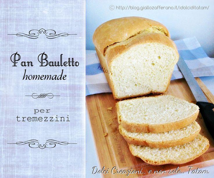 Pan bauletto homemade per tramezzini, morbido e fragrante, ottimo per i tramezzini, tartine, sandwich, panini, stuzzichini, si prepara in pochissimo tempo..